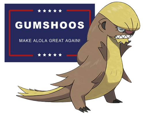 fb3 the memes write themselves yungoos trump know your meme,Pokemon Gumshoos Meme