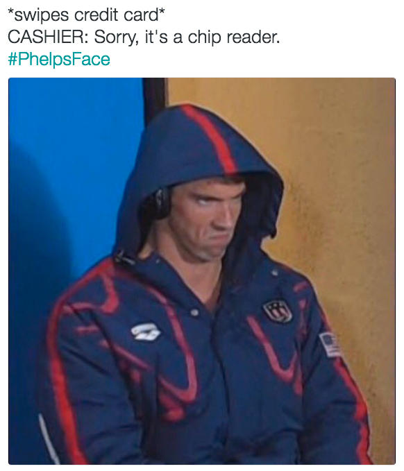 f06 it's a chip reader phelpsface angry michael phelps know