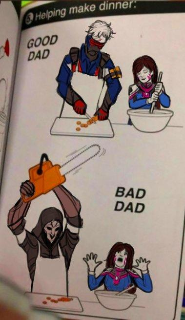 b15 good dad, bad dad overwatch know your meme