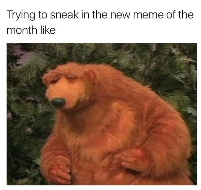 d1f bear in the big blue house know your meme,Meme Bear