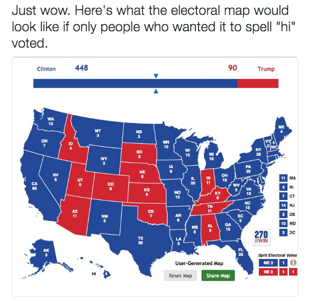 Electoral College Map Parodies Know Your Meme - Map of us trump v hil