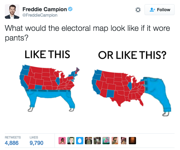 12f dog wear pants electoral college map parodies know your meme,Electoral College Memes