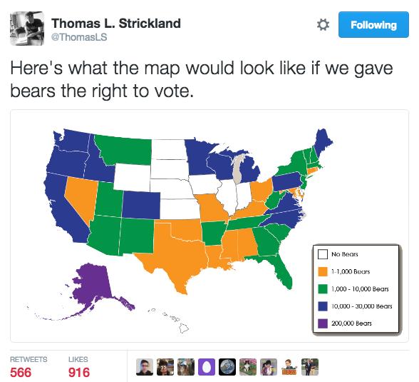b83 bears vote electoral college map parodies know your meme