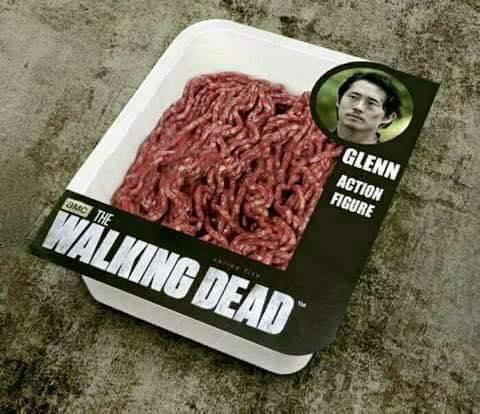 82b ground beef glenn of his mutilated head the walking dead know