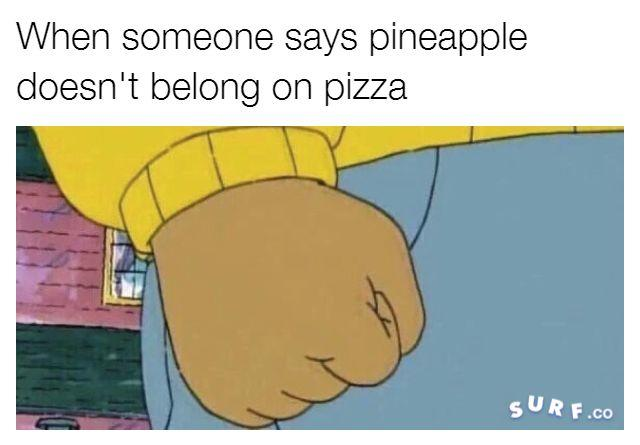 701 pineapple on pizza debate know your meme
