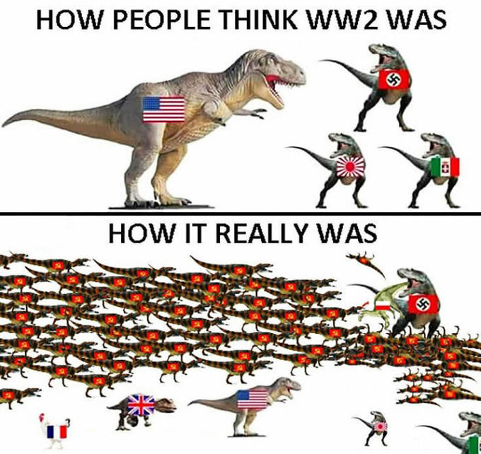 HOW PEOPLE THINK WW2 WAS HOW IT REALLY WAS