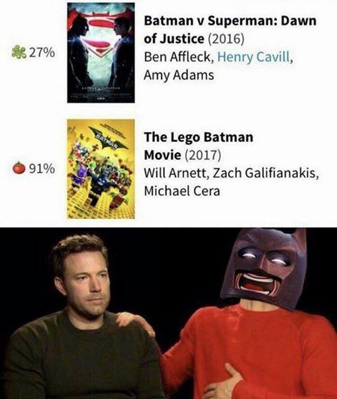 e2f lego batman wins sad affleck know your meme