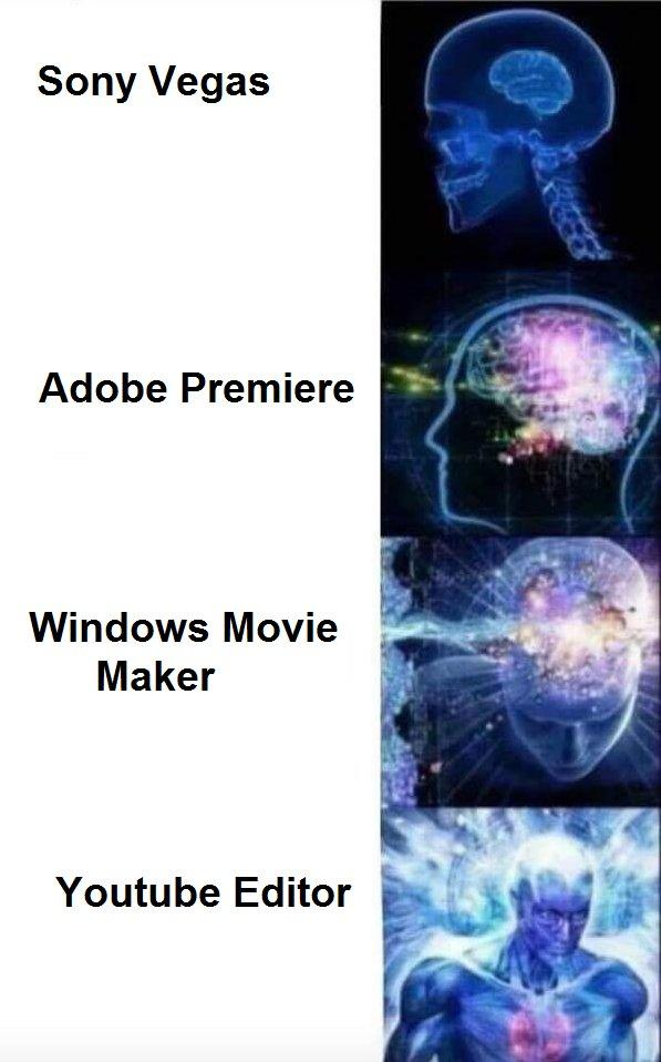 190 the best for video editing expanding brain know your meme