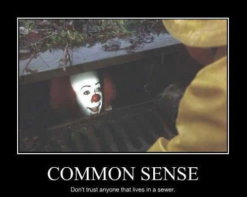 faa common sense pennywise in the sewer know your meme