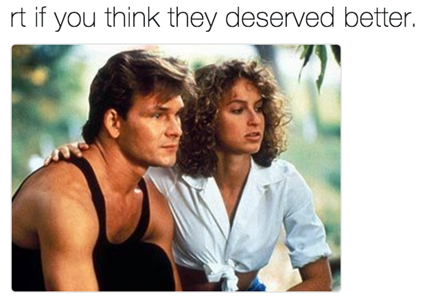 e21 rt if you think they deserved better dirtydancing abc's dirty