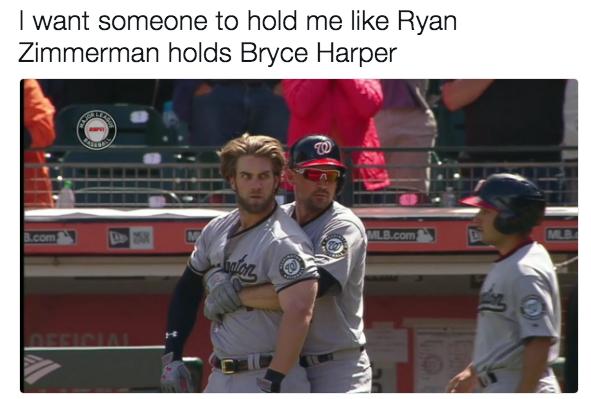 049 hold me ryan bryce harper hunter strickland brawl know your meme