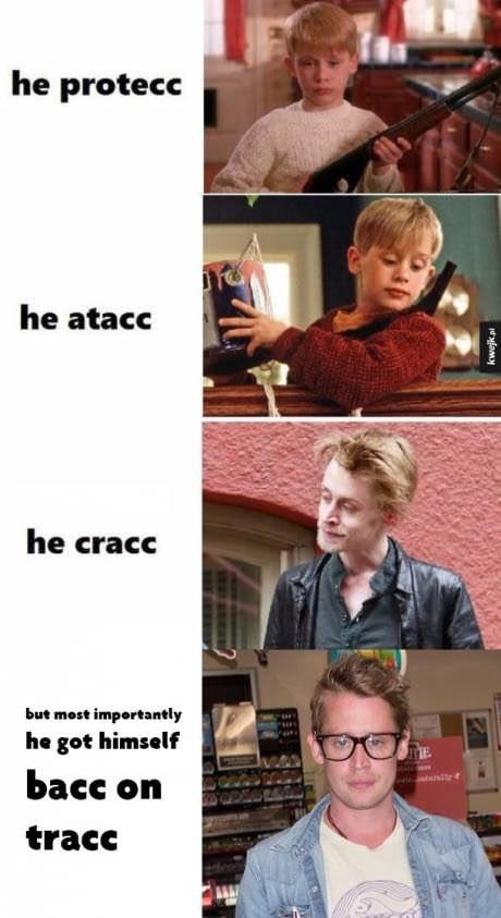 2ce macaulay culkin he protec but he also attac know your meme