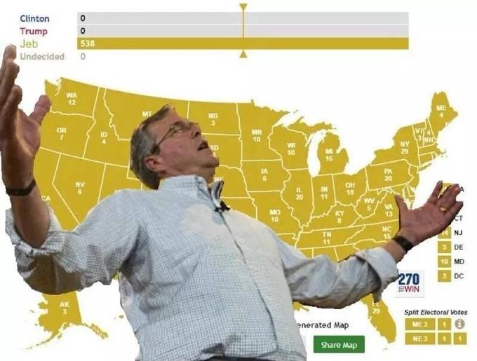 Jeb Wins Know Your Meme - Map of memes across the us