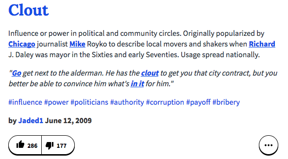 a0c urban dictionary definition clout know your meme