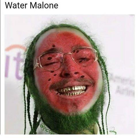 0bf water malone post malone know your meme