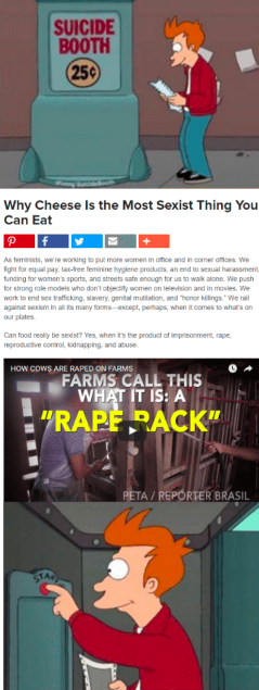 Suicide booth meme about reaction to article about racist cheese