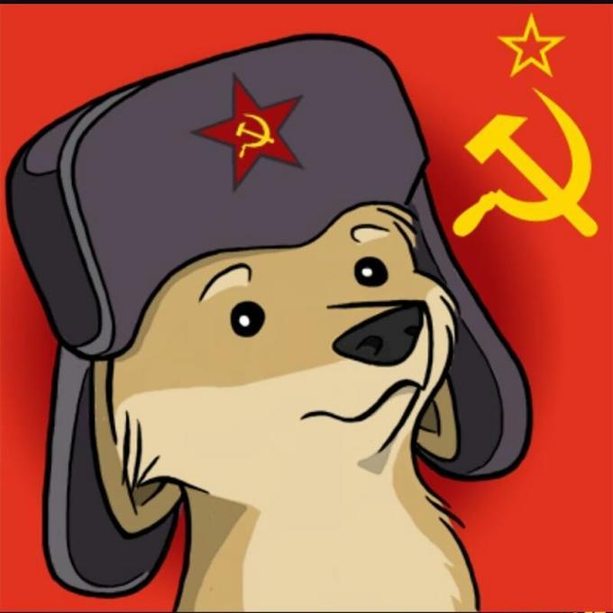 Comrade Doggo meme as Cartoon Comrade