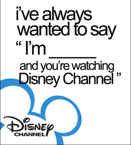 meta picture of stating your name and telling the viewer they are watching the Disney Channel