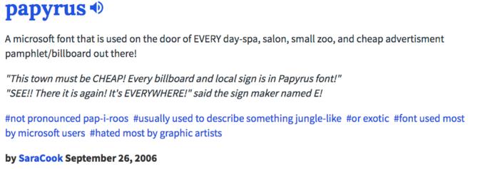 Papyrus Definition | Papyrus | Know Your Meme