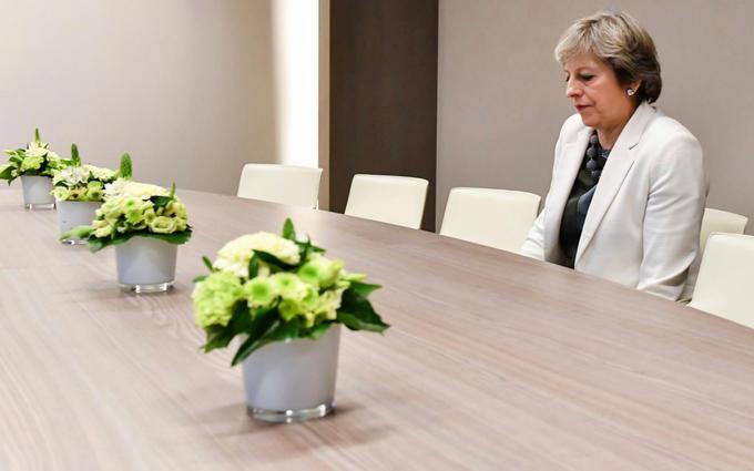 Original Lonely Theresa May photo that became meme
