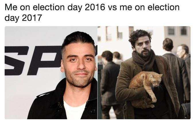Me on Election Day 2016 vs. 2017 | Know Your Meme