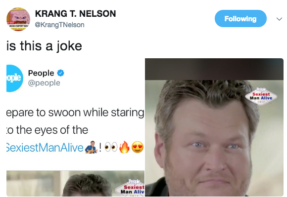 019 krang t nelson blake shelton named sexiest man alive know your
