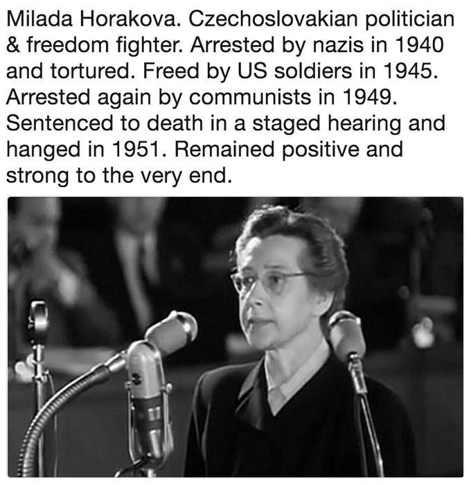 Badder bitch meme about Milada Horakova