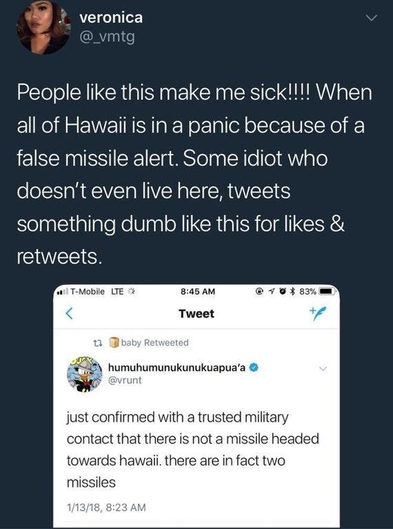 a7f people like this make me sick hawaii missile false alarm know