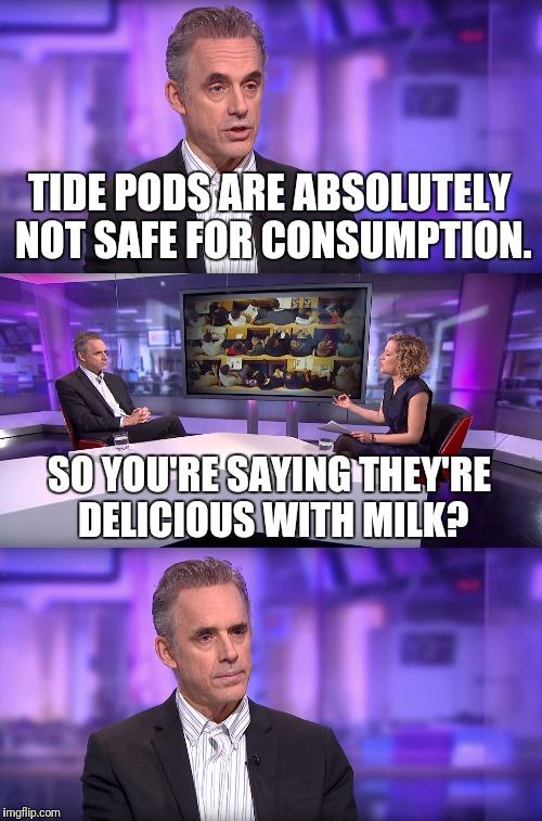 fbb jordan peterson vs feminist tide pods jordan peterson know