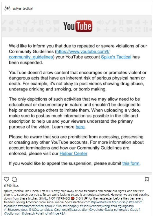 youtube community guidelines appeal form