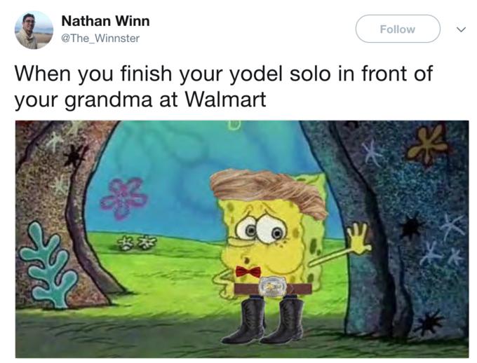 walmart kid yodeling