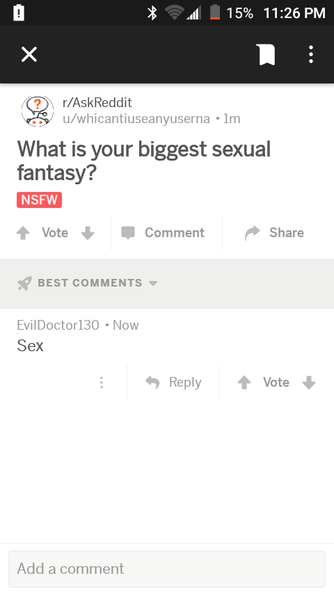 What is your best sex fantasy
