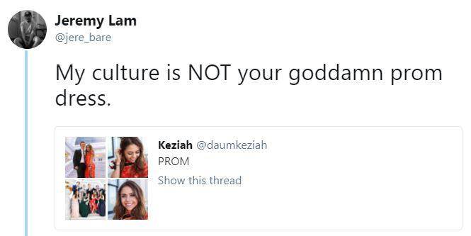 Keziah Daum was accused of Cultural Appropriation by Twitter user 'Jeremy Lam'