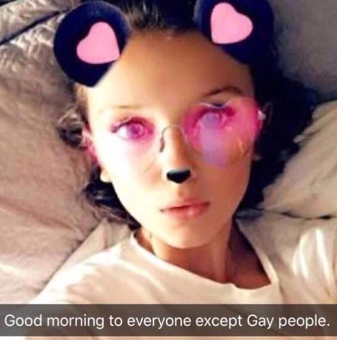 Good morning to everyone except Gay people.