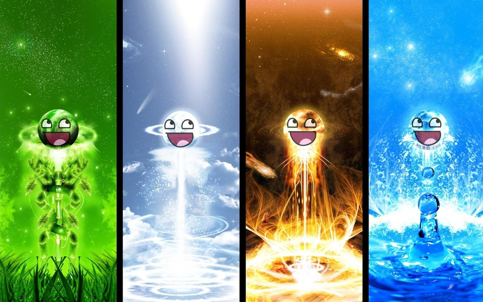 AWESOME FACE | awesome, crashing, smiley, face, planet, cool, boom ...
