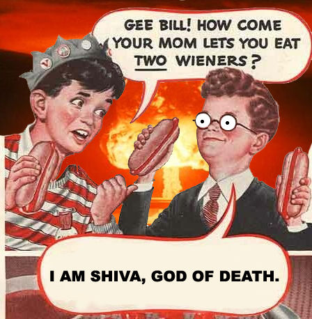 Two Hot Dogs Shiva