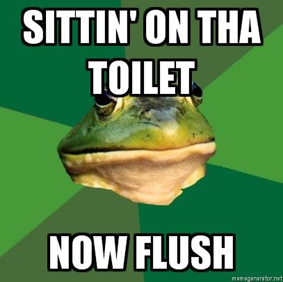 sittin on the toilet