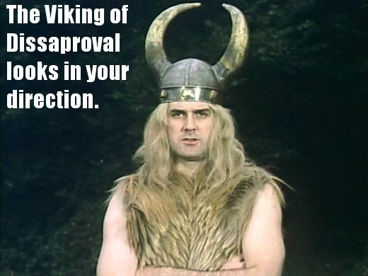 Viking 1 image 76578] the viking of disapproval know your meme