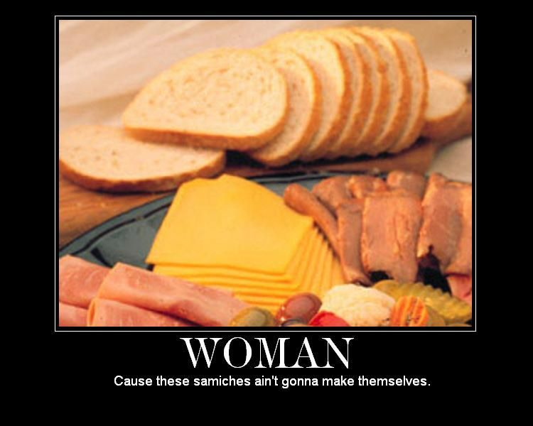 woman sandwhich make me a sandwich know your meme