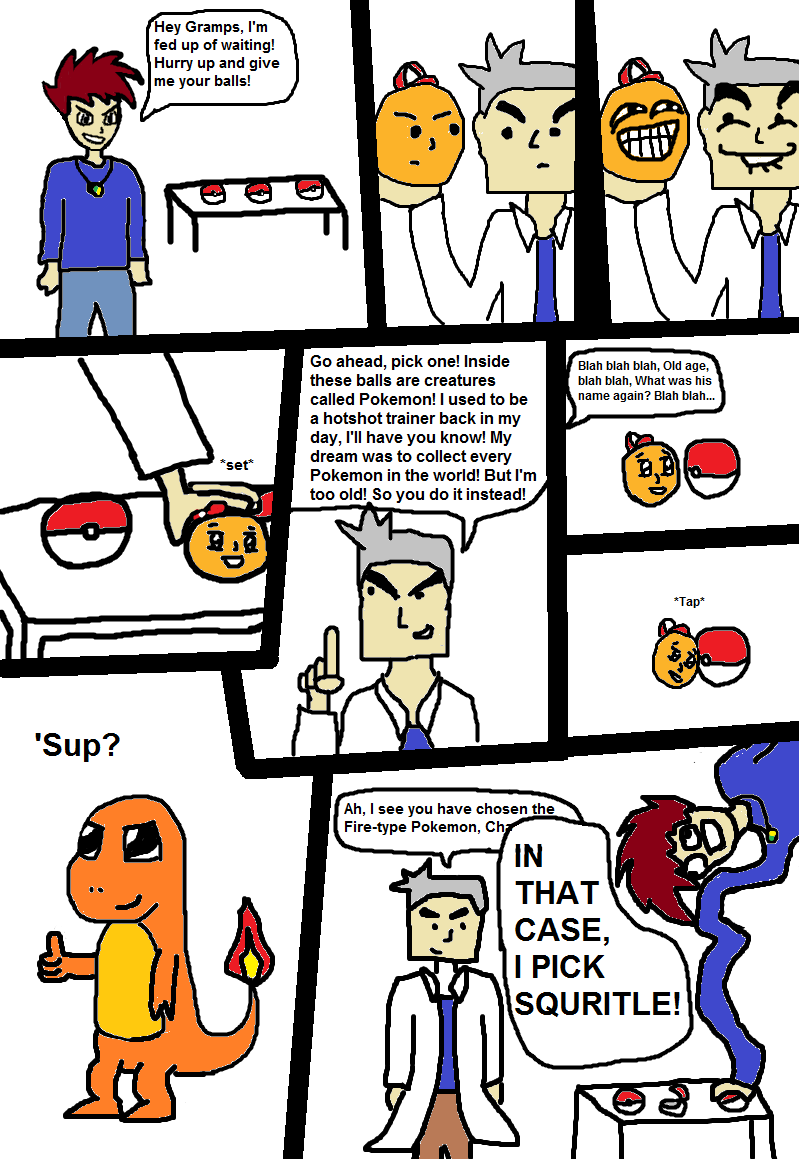 This example of a Nuzlocke Comic was created by Know Your Meme user ...