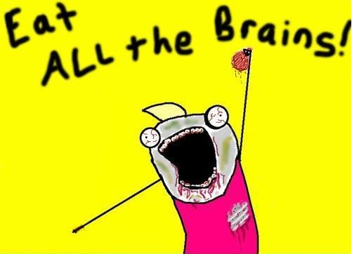 memes eat all the brains image 161075] all the things know your meme