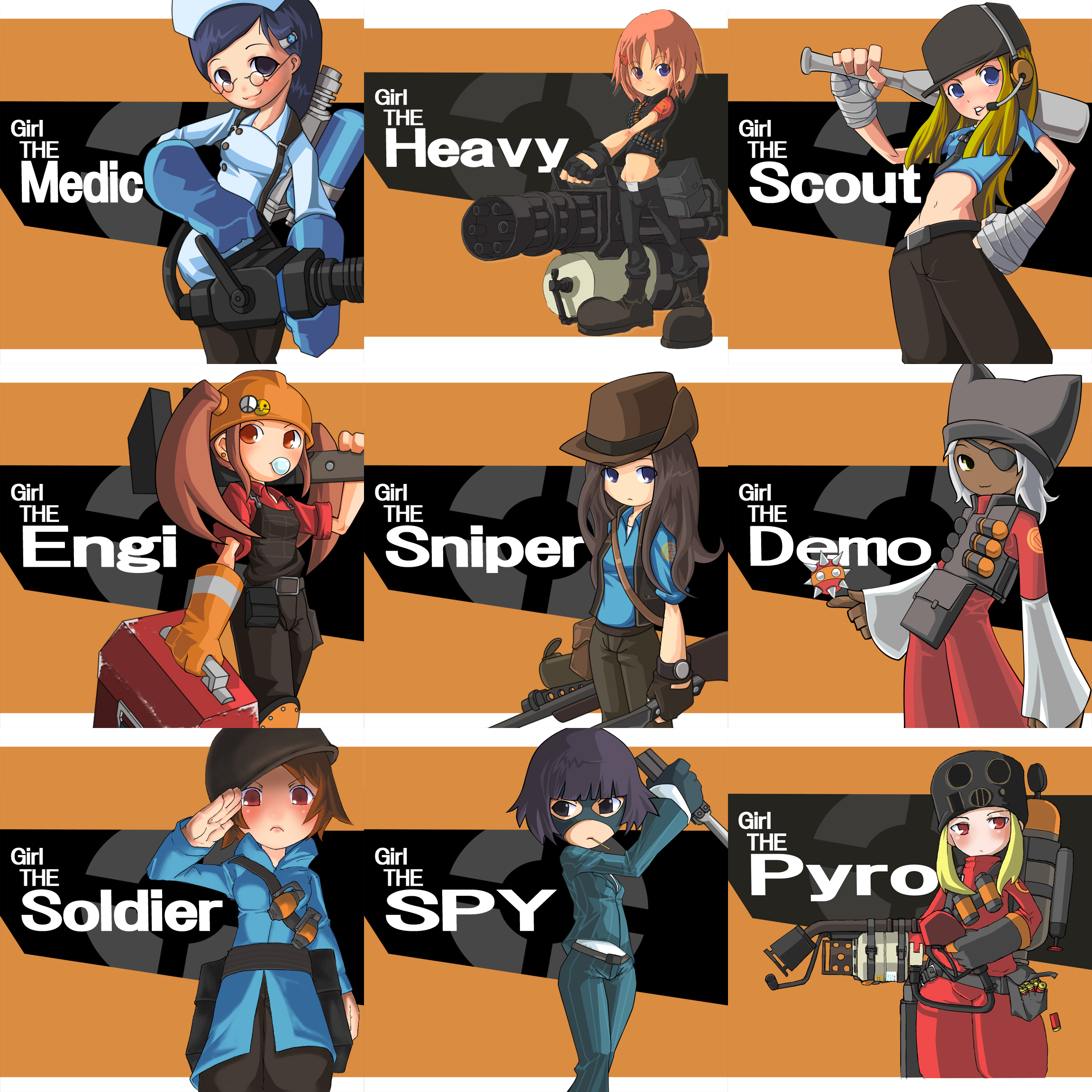 AnimeTF2 entire team is babies! team fortress 2 know your meme