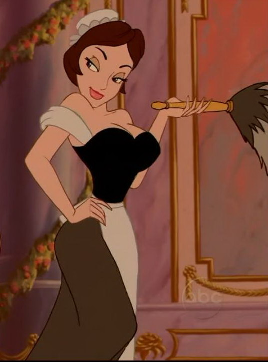 Beast Belle Featherduster Black Lady Cartoon Art Girl