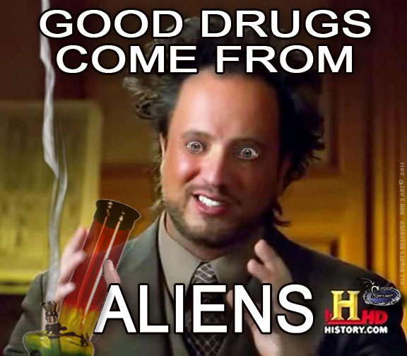 ALIEN GUY EYES image 207530] ancient aliens know your meme