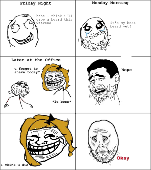 Group Of Enjoy Funny Troll Face