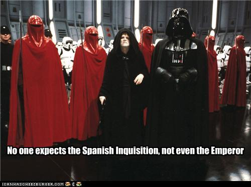 f3d nobody expects the imperial guard! nobody expects the spanish,Spanish Inquisition Meme