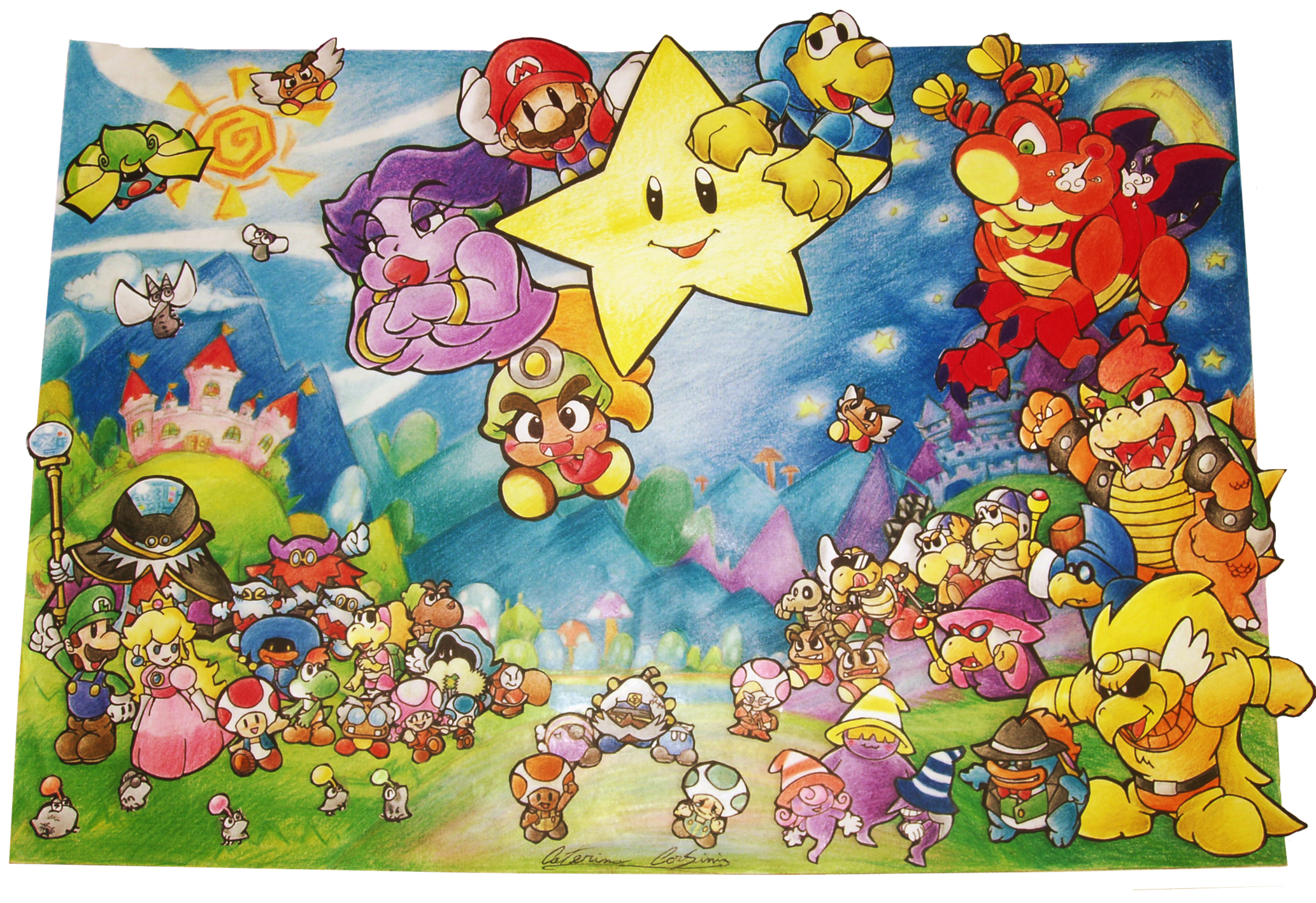 Mario Bros Paper The Thousand Year Door Sticker Star