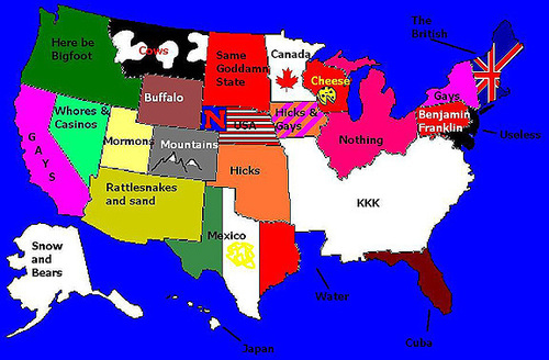 Image Nationality Stereotypes Know Your Meme - Kkk map in the us
