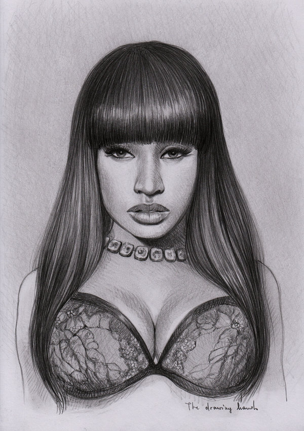 Image 247112 nicki minaj know your meme nicki minaj nose drawing hairstyle black and white long hair portrait voltagebd Image collections