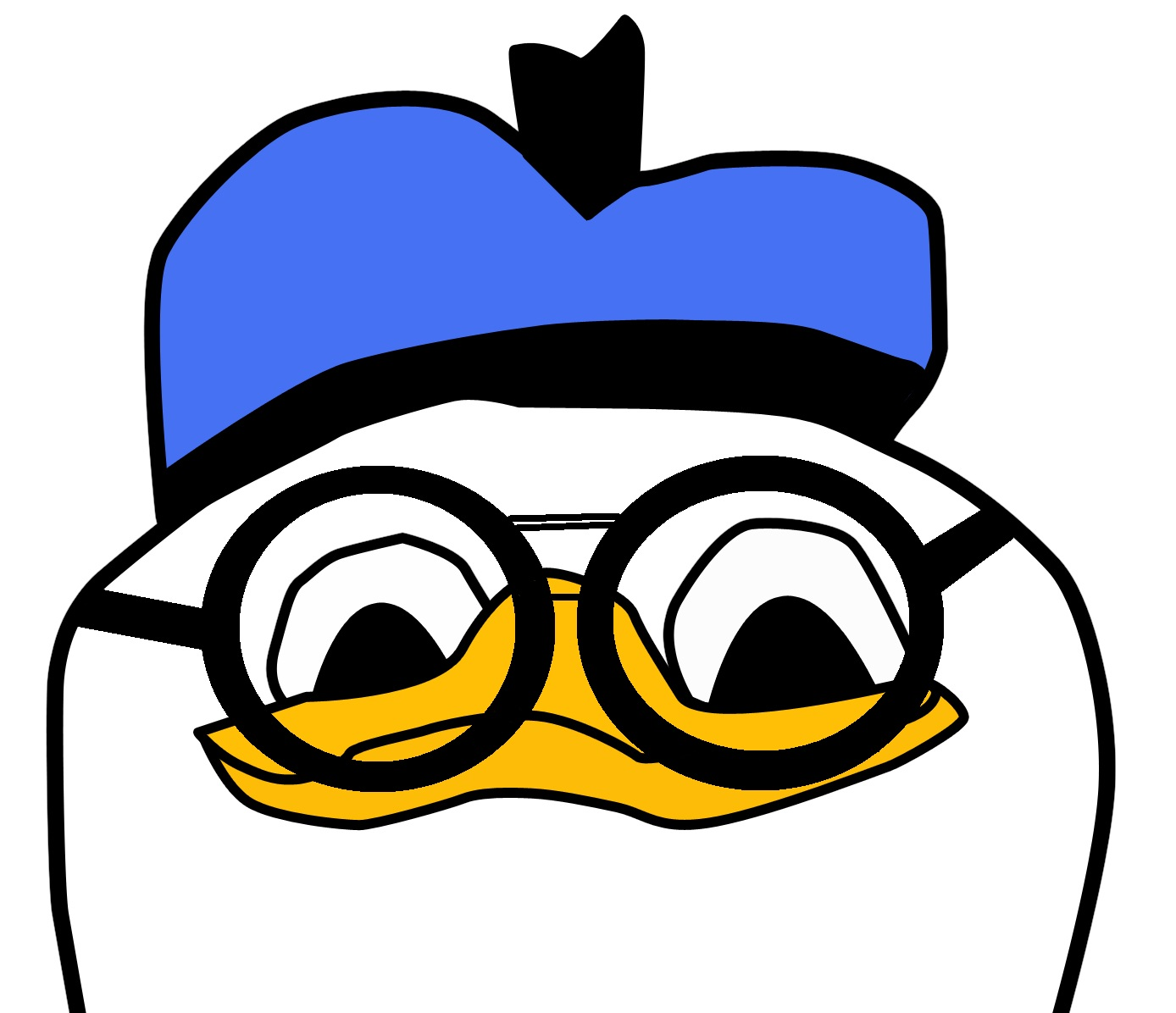 Duck With Glasses